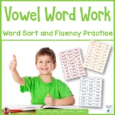 Vowel Word Work: Word Sort and Fluency Practice