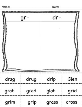 Short and Long Vowel Word Sorts