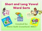 Short and Long Vowel Word Sorts {5 Word Sort Activities}