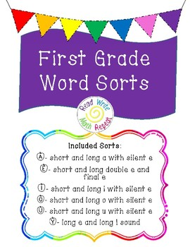 Short and Long Vowel Word Sorts for First Grade