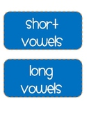 Short and Long Vowel Word Work