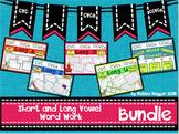Short and Long Vowel Word Work Bundle