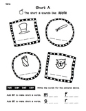 Short and Long Vowel Worksheet Packet