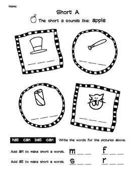 Short and Long Vowel Worksheet Packet