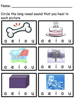 Short and Long Vowel Worksheets