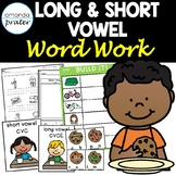 CVC and CVCE (Silent e) Worksheets and Activities