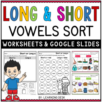 Long And Short Vowels Worksheets By Learning Desk Tpt