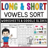 Long and Short Vowels Mixed Worksheets Google Kindergarten