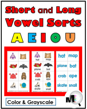 Vowel Sorts -  5 Sorting Activities