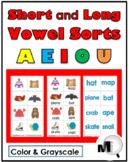 Vowel Sorts -  5 Sorting Activities