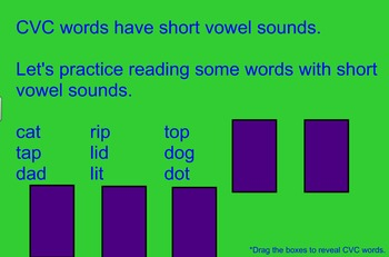 Short and Long Vowels Activity