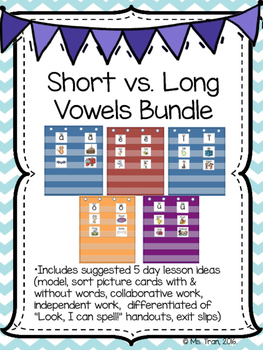 Short and Long Vowels - BUNDLE (ALL OF IT)