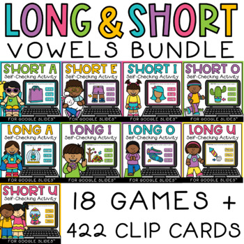 Short and Long Vowels CVC and CVCe Words Digital Activities BUNDLE