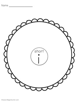 Short and Long Vowels Circle Maps