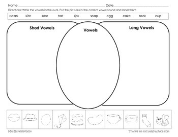 Short and Long Vowels Graphic Organizer