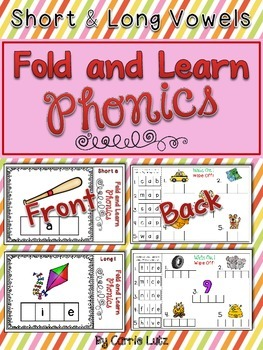 Short and Long Vowels ~ Fold and Learn Phonics {Self Checking}