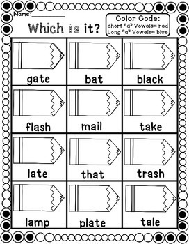 Short And Long Vowels Phonics Worksheets By Teaching Second Grade