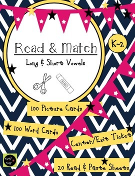 Vowels: Short and Long - Read and Match