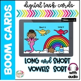 Short and Long Vowels Sort Boom Cards| Distance Learning