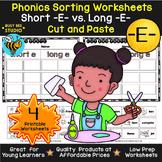 Short and Long Vowels Sort | Short E or Long E Worksheets