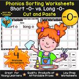 Short and Long Vowels Sort | Short O or Long O Worksheets
