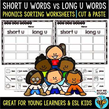 Short and Long Vowels Sort | Short U or Long U Worksheets