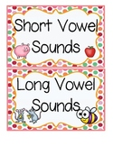 Short and Long Vowels-Sorting Center and Student Reproduci
