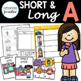 Short and Long Vowel A Sorting: CVC and CVCE Worksheets and Activities