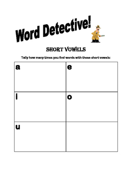 Short and Long Vowels Word Detective!