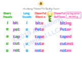 Short and Long Vowels and the Silent e-Phonics Sheet for Dyslexia