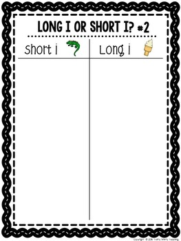 Short and Long Vowel Word Sorts Bundle