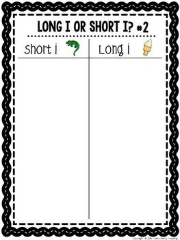 Short and Long Vowel Word Sorts Bundle