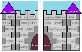 Short and Long a Vowel Sort (a_e, ai, ay): Castle Puzzle Game
