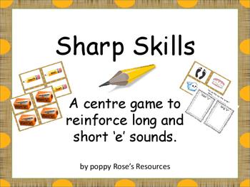 Short and  Long e Sounds Sharp Skills