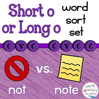Short and Long o Word Sort Set