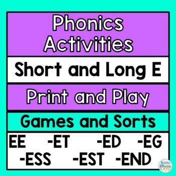 Short and long E vowel game
