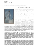 Short article and comprehension questions for Los Voladore