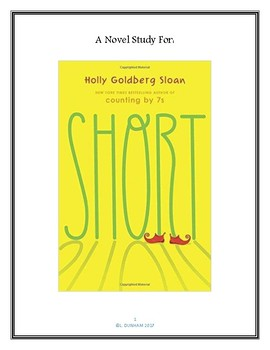 Short by Holly Goldberg Sloan - Novel Study