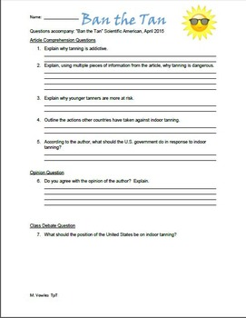 Short common core life science activities based on current