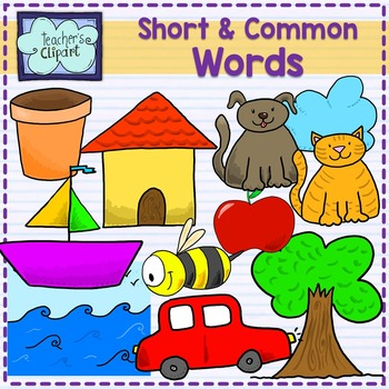 Short common words clipart