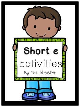 First Grade Phonics: Short e Games