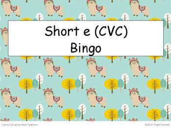 Short e Bingo (CVC)