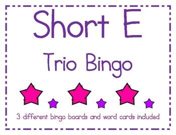 Short e Bingo