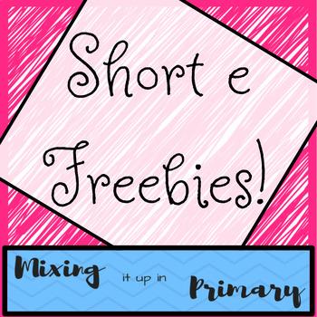 Short e Board Games - FREEBIES!