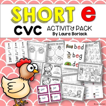 Short e CVC Activity Pack