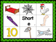 """Short """"e"""" CVC Mat with matching pictures, words and recording sheet!"""