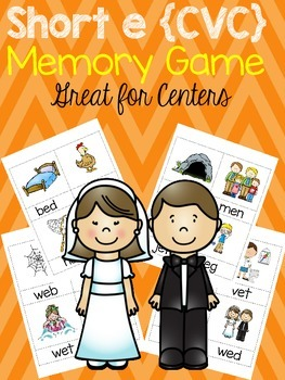 Short e {CVC} Memory Game