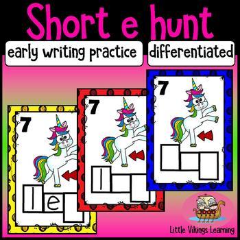 CVC Short E Write the Room