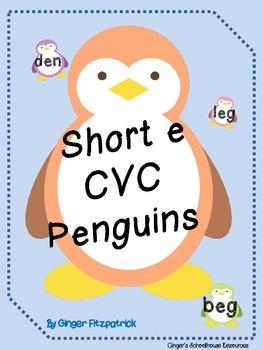 Short e CVC Penguins Card Game