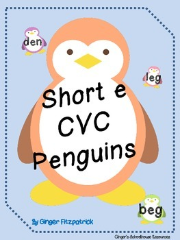 Short e CVC Penguins Card Game